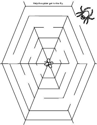 10 Best Images of Spider Web Printable Worksheets
