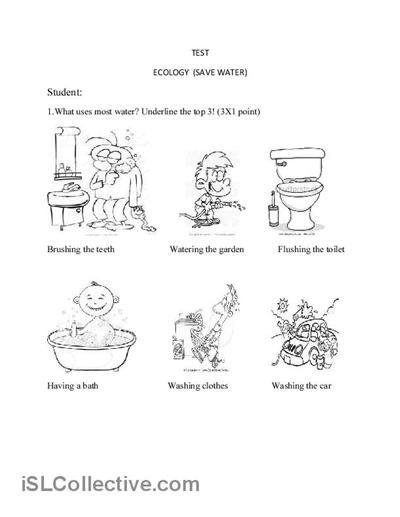 10 Best Images of Water Worksheets For Kindergarten