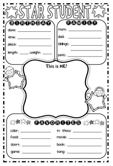 9 Best Images of Star Student Printable Worksheet
