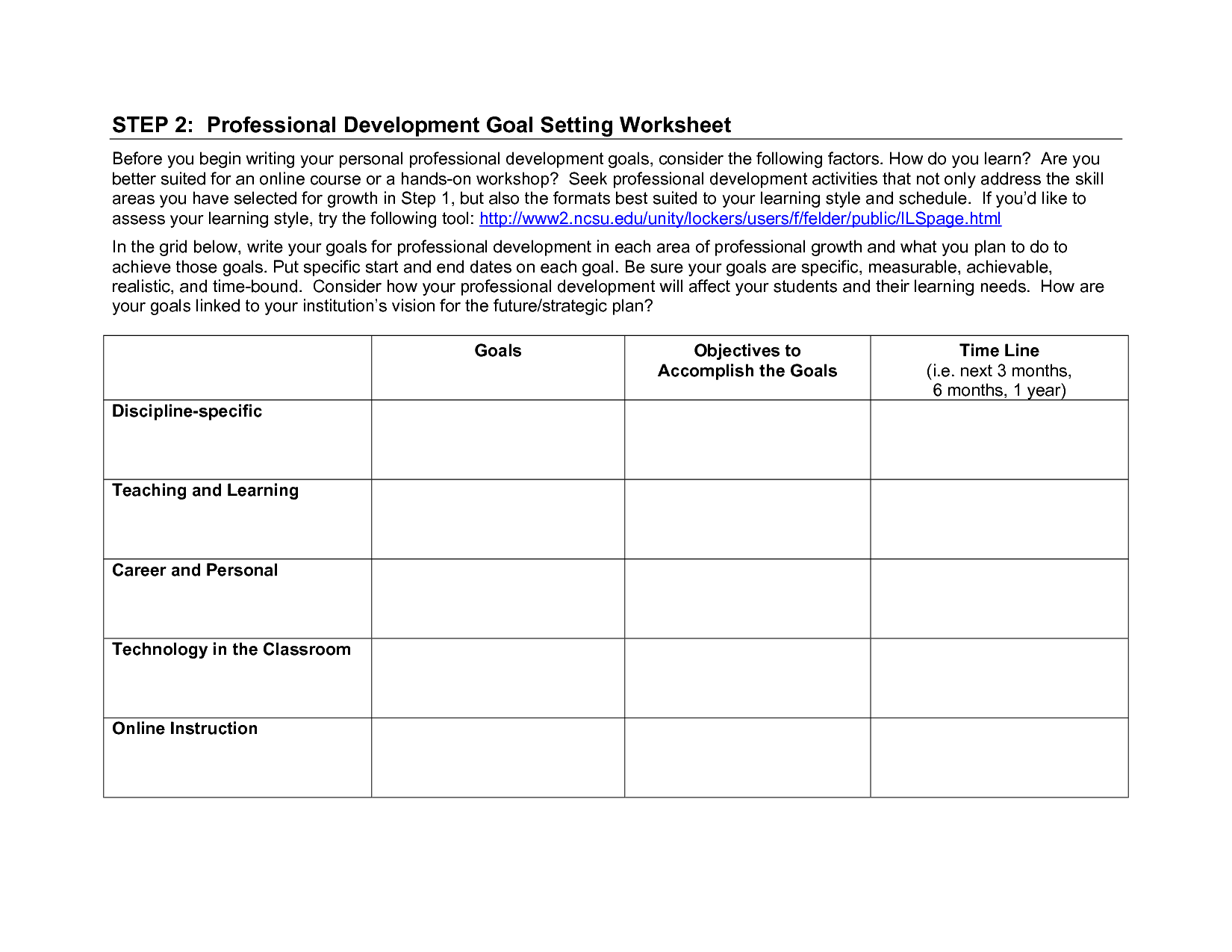 18 Best Images Of Examples Of Goal Setting Worksheets