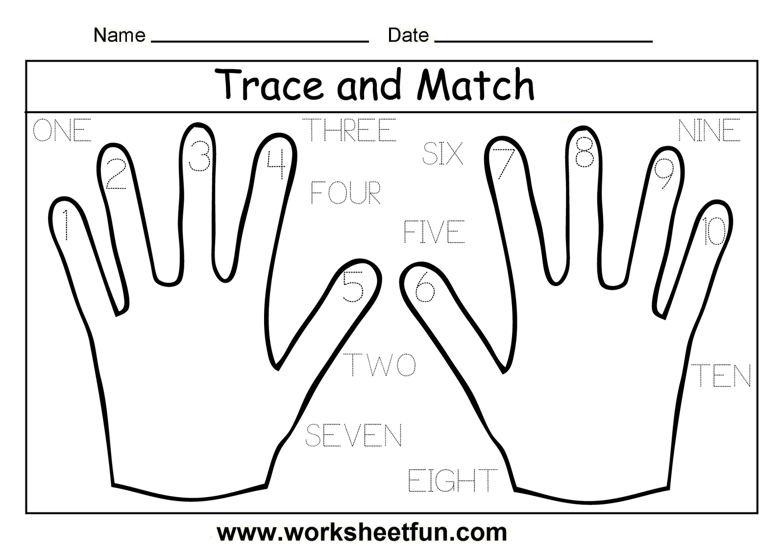 11 Best Images Of Worksheets Handwriting Number Ten