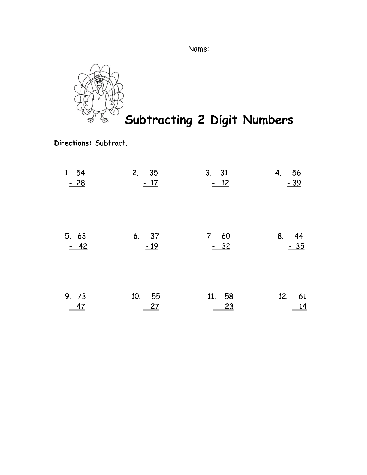 12 Best Images Of Adding Whole Numbers Worksheet