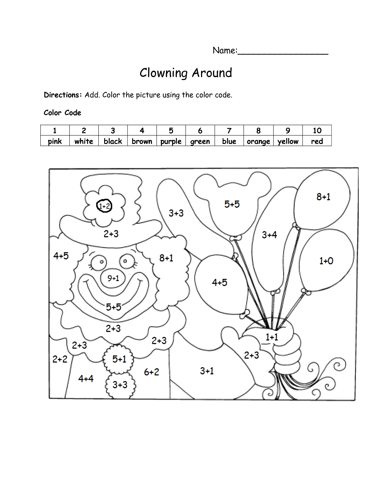 19 Best Images Of Color Code Math Worksheets