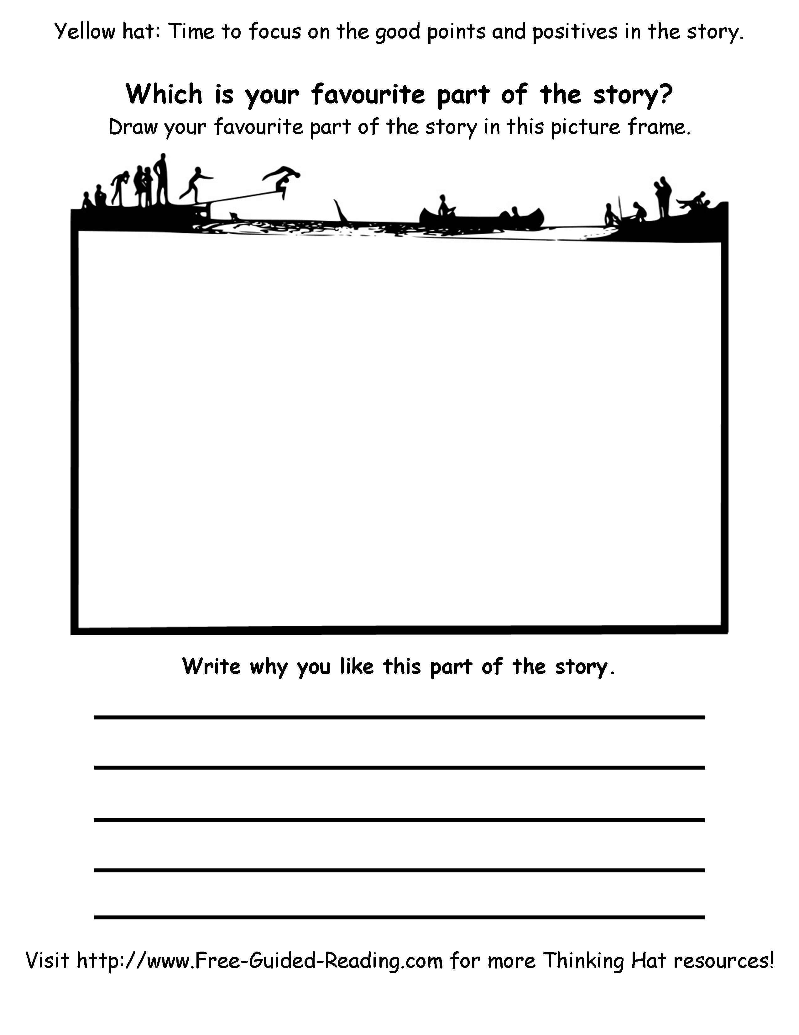 11 Best Images Of Book My Favorite Part Worksheet
