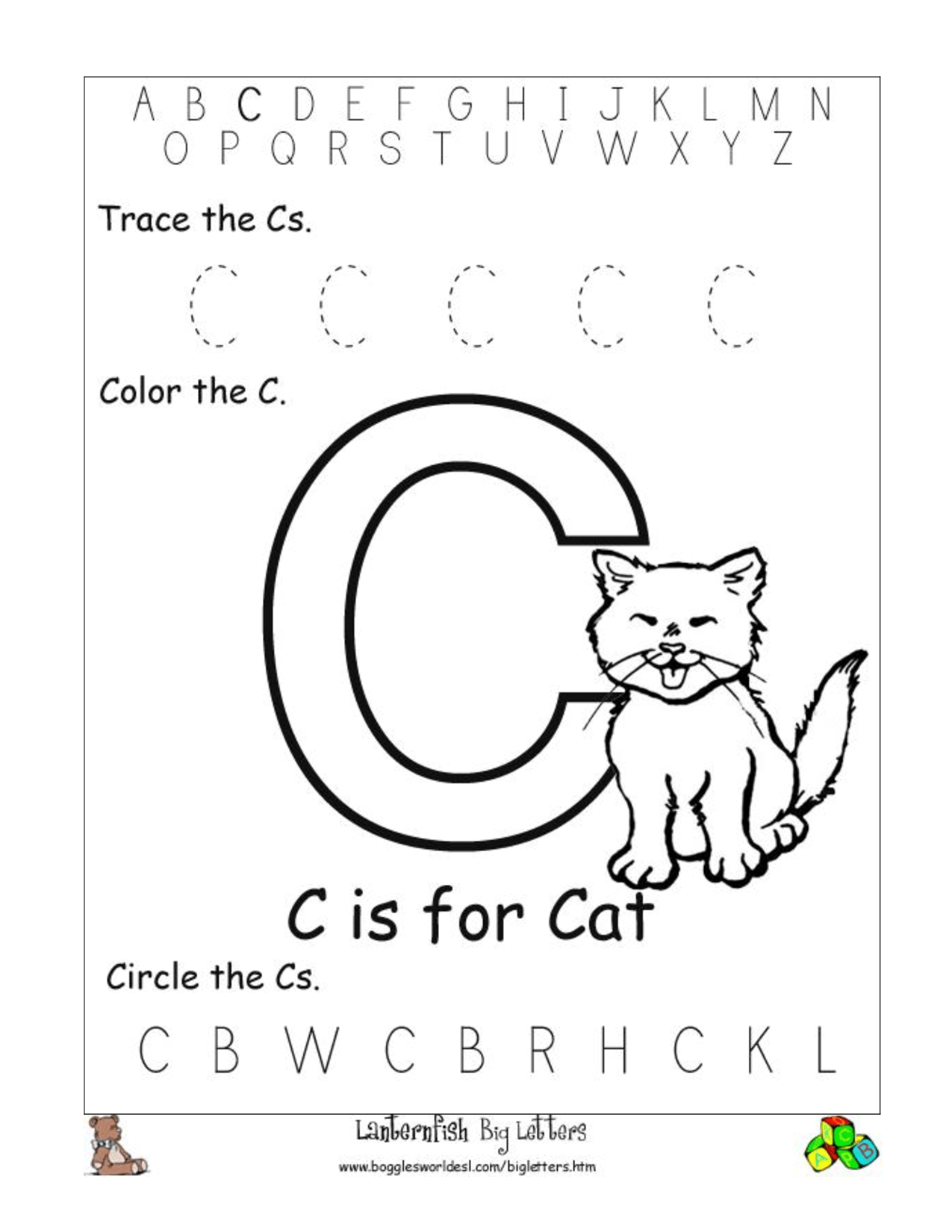 11 Best Images Of Hidden Letter I Worksheet
