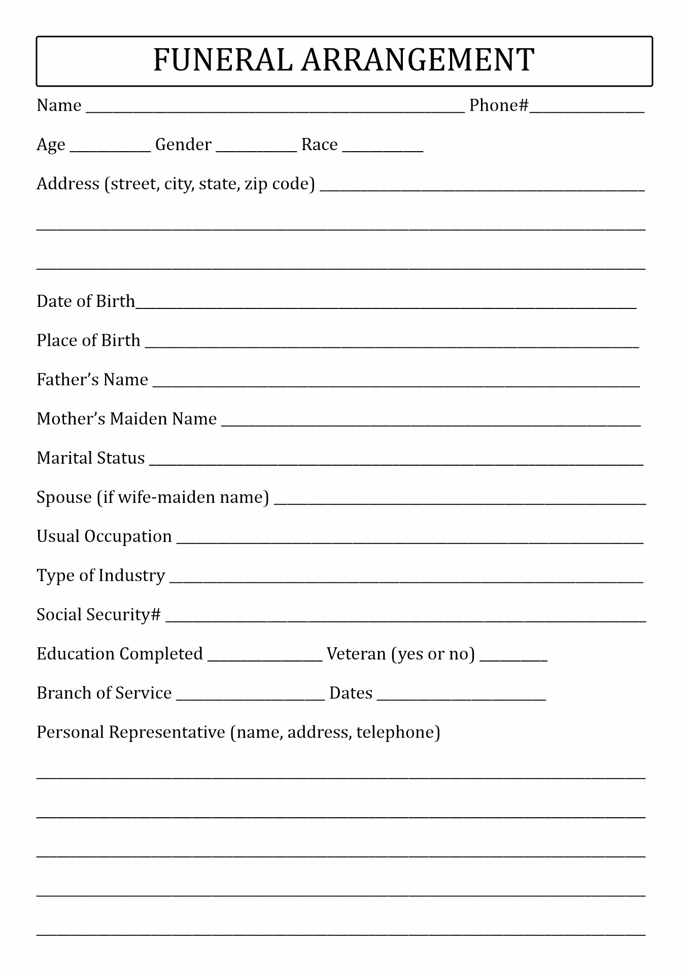 Native American 12 Step Worksheet