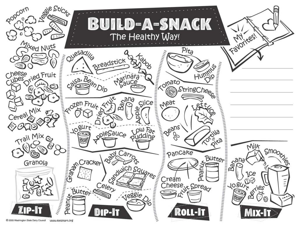 17 Best Images of Healthy Snacks Worksheet Preschool
