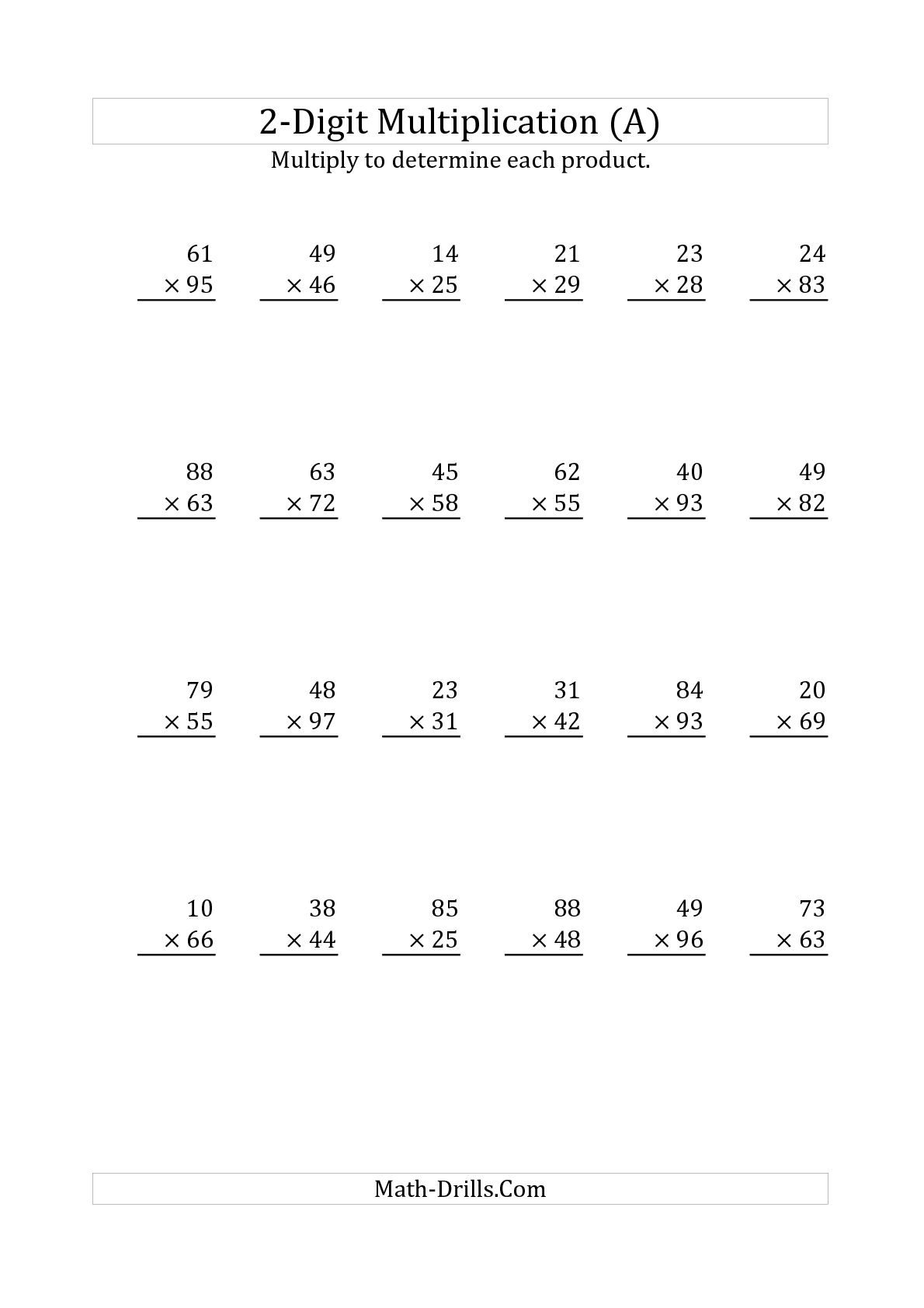11 Best Images Of Lattice Multiplication Printable Worksheets