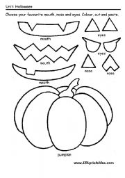 14 Best Images of Cut And Paste Pumpkin Worksheet