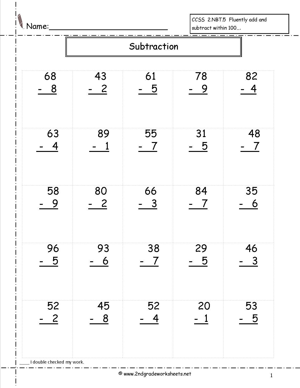 16 Best Images Of 100 Single Digit Math Worksheets
