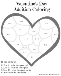 16 Best Images of Valentine's Day Math Coloring Worksheets ...