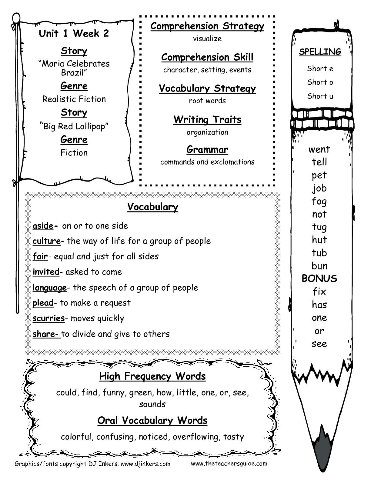 20 Best Images Of Second Grade Comprehension Worksheets