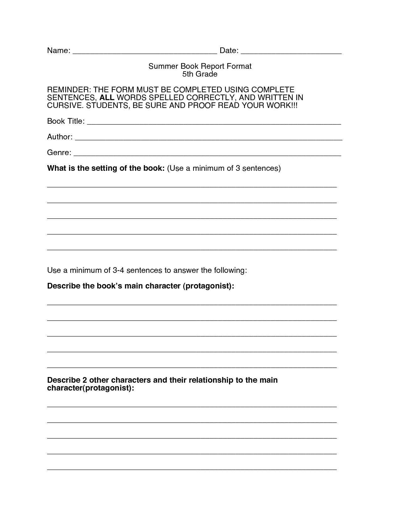 hight resolution of Report Outline Worksheet   Printable Worksheets and Activities for  Teachers