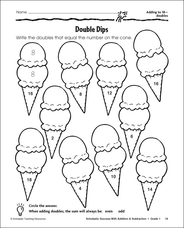 14 Best Images of Doubles Worksheets For First Grade