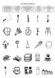 Kitchen Utensils Word Scramble Answers. cooking with kids