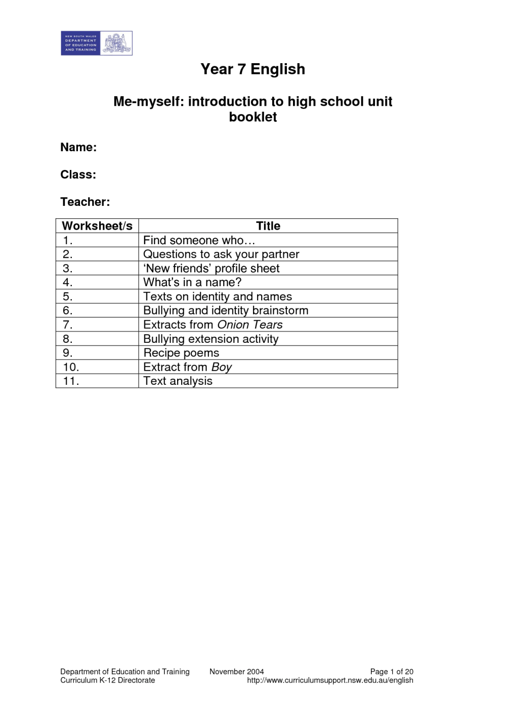 medium resolution of Bullying Worksheets For Third Grade   Printable Worksheets and Activities  for Teachers