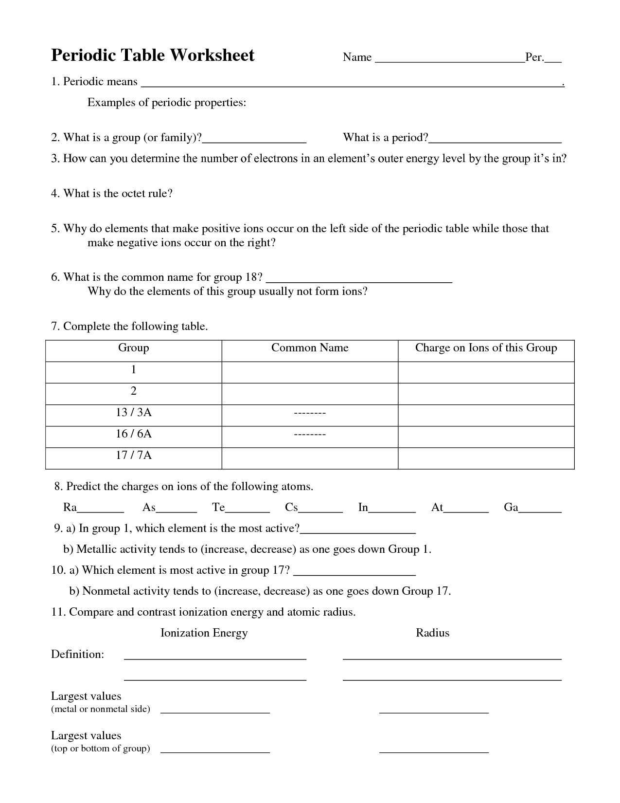 Chemistry Worksheet Category Page 3