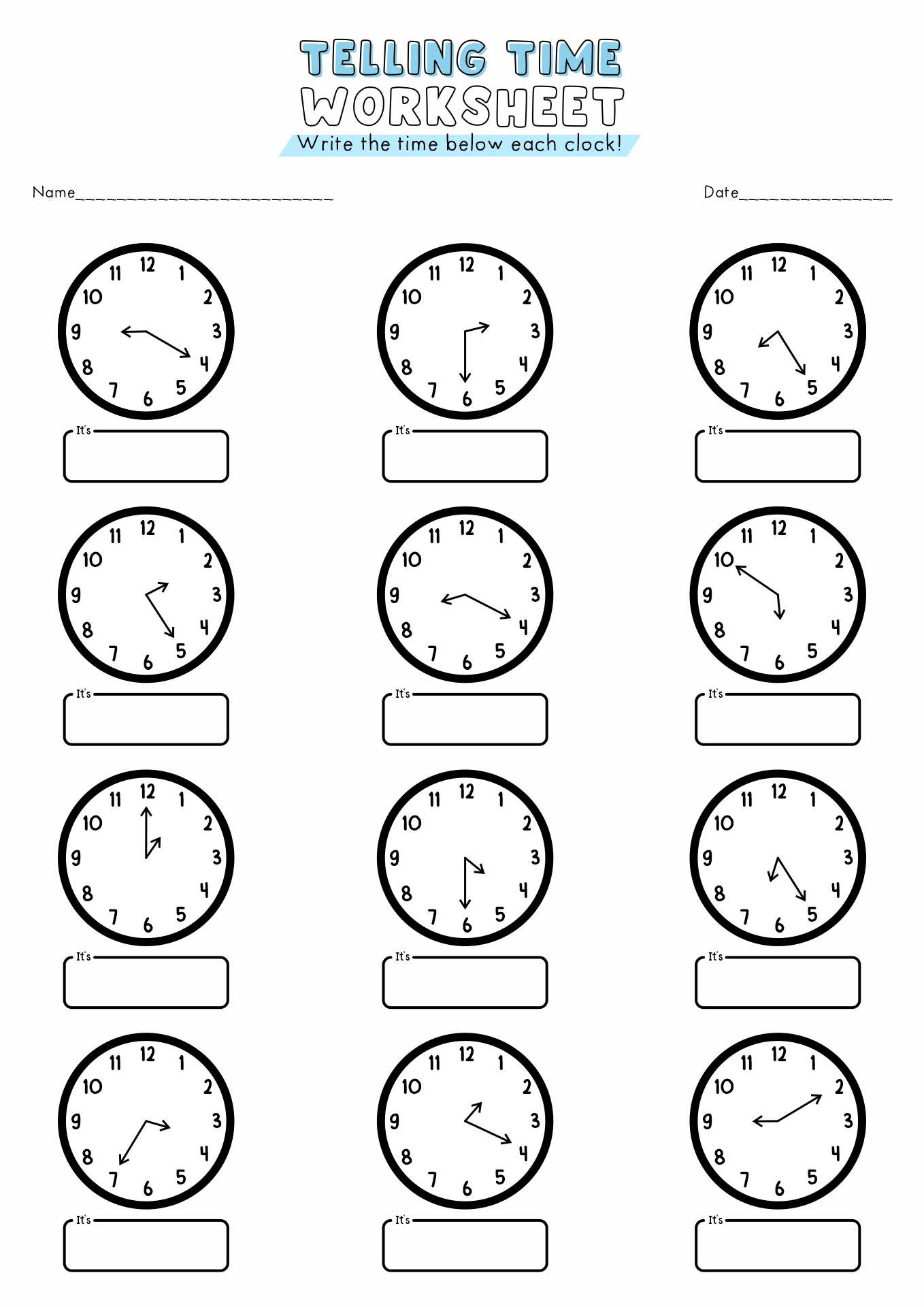 17 Best Images Of Time Worksheets For 3rd Grade