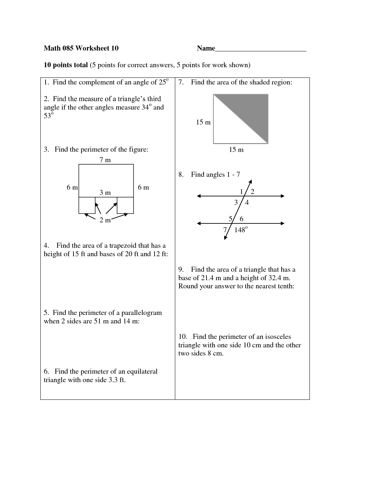 17 Best Images Of Triangles And Angles Worksheet 6th Grade