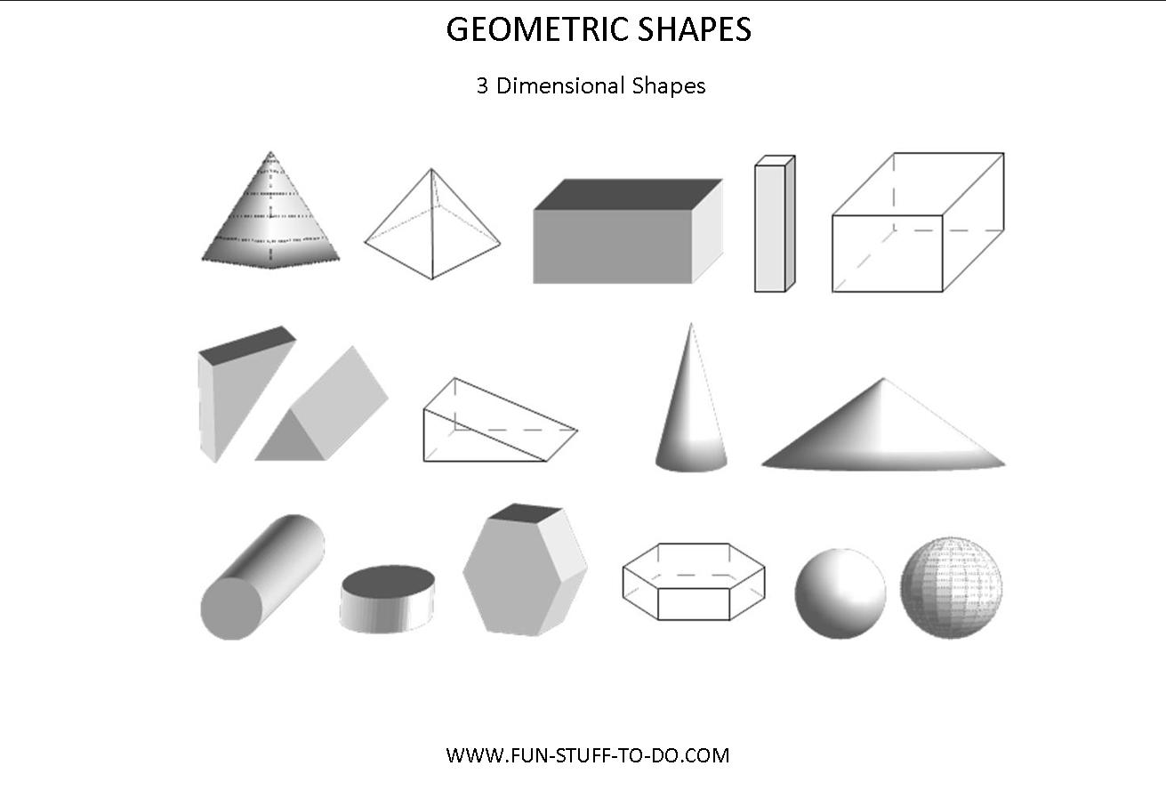 14 Best Images Of Three D Shapes Worksheets