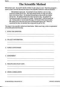 11 Best Images of Scientific Method Worksheets For 6th