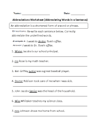 19 Best Images of Abbreviations Worksheets For 2nd Grade ...