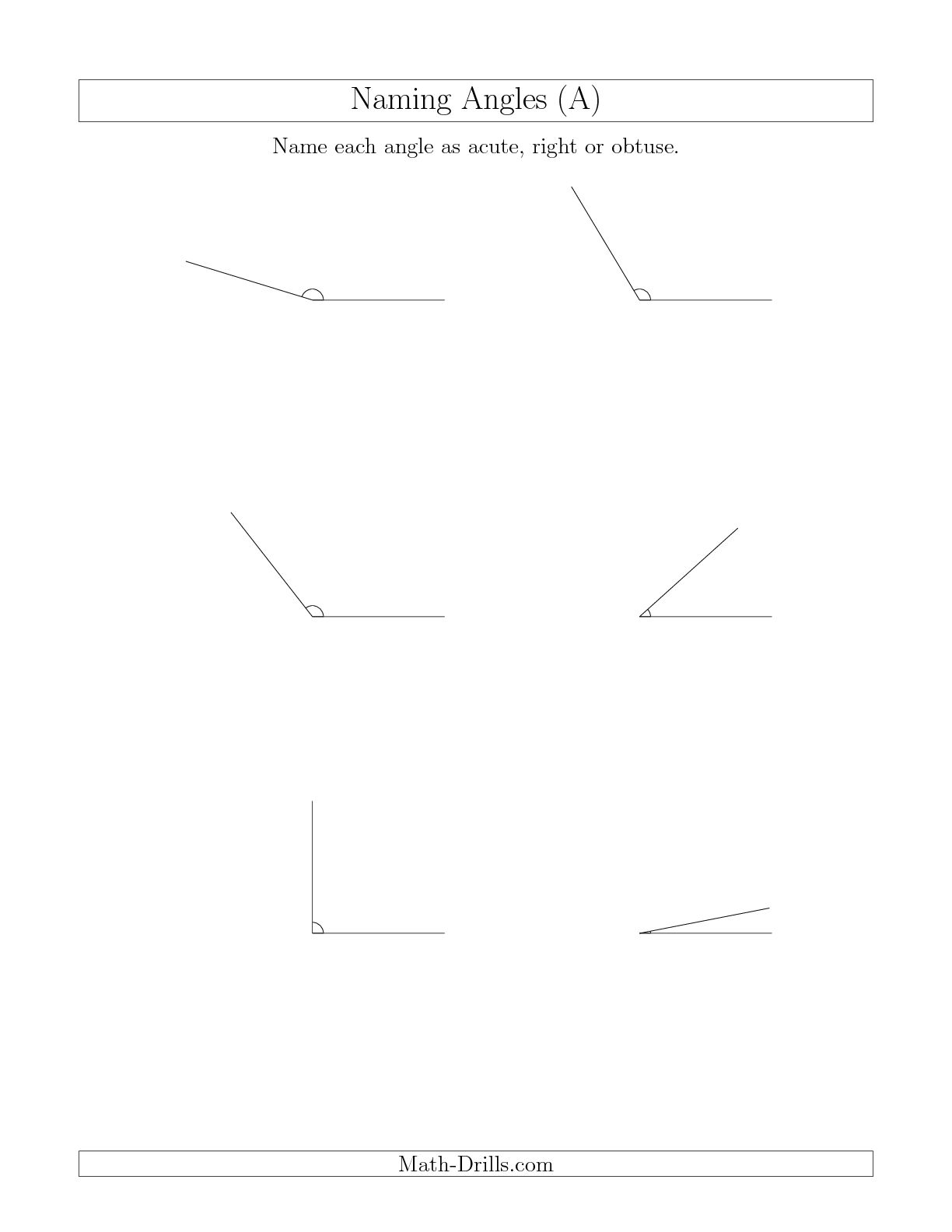 8 Best Images Of Right Angles Worksheet