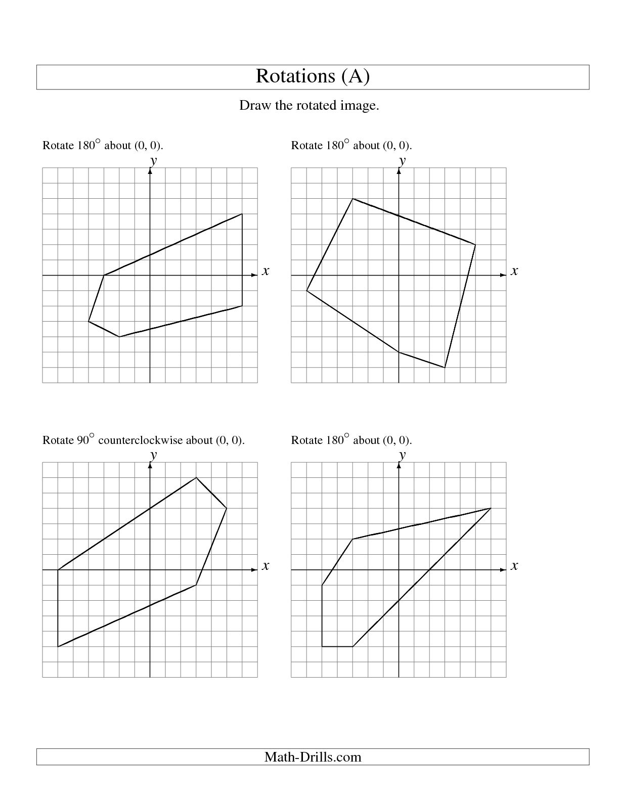 Translation Reflection Rotation Worksheet 4th Grade