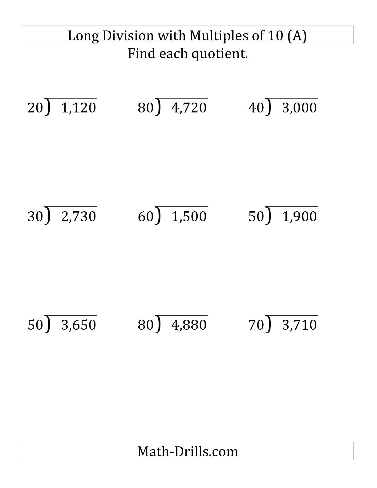 13 Best Images Of 2 Digit Division Worksheets Math