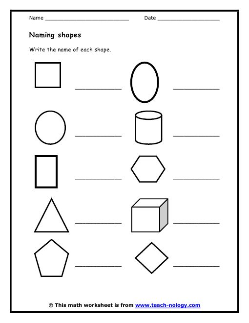 13 Best Images of Worksheets For Kindergarten Shape Hunt