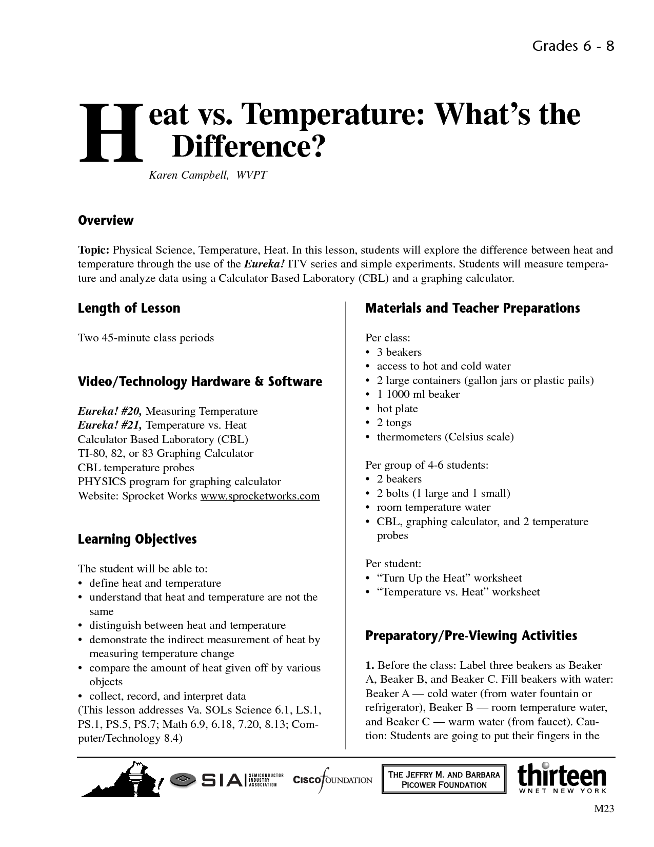 10 Best Images Of Science Worksheets On Heat