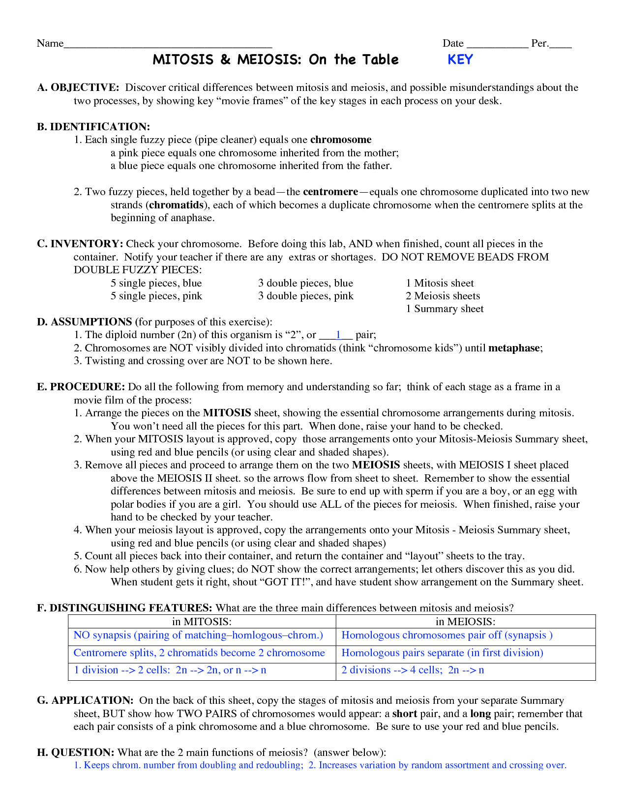 18 Best Images Of Labeling Meiosis Worksheet Answer Key
