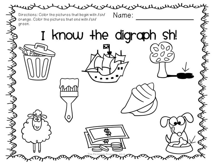 10 Best Images of Kindergarten Digraph Worksheets Sh CH WH