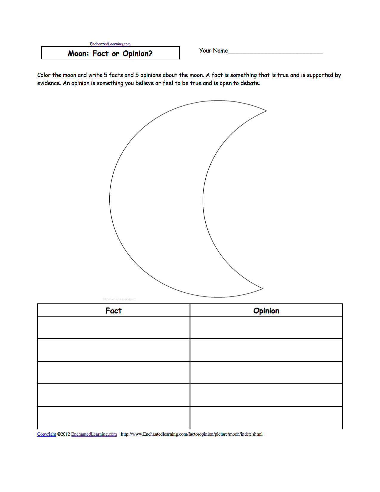 15 Best Images Of Moon Phases Worksheet For Kindergarten