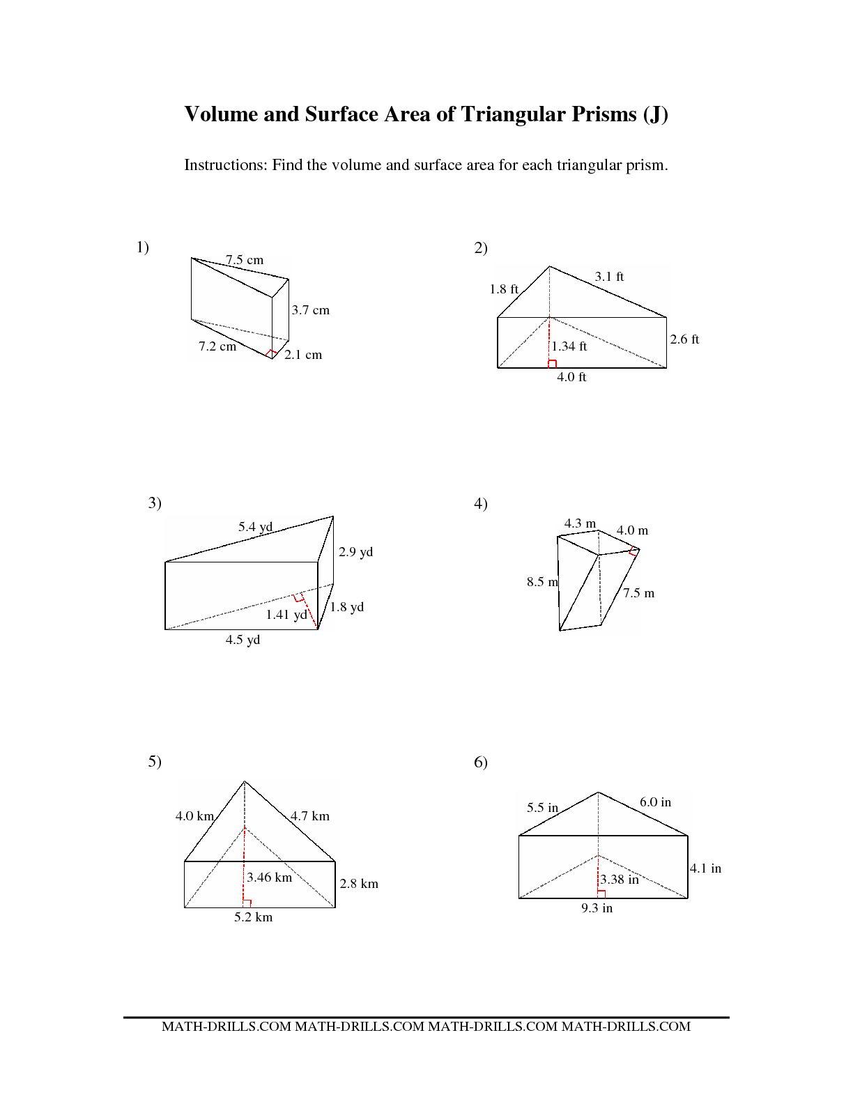 5 Best Images Of Volume Of Prisms Worksheet