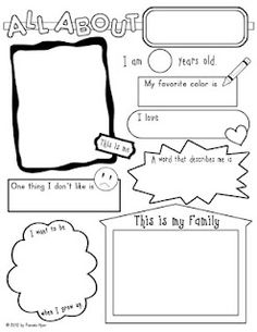 9 Best Images of Marvelous Me Worksheet For Kindergarten