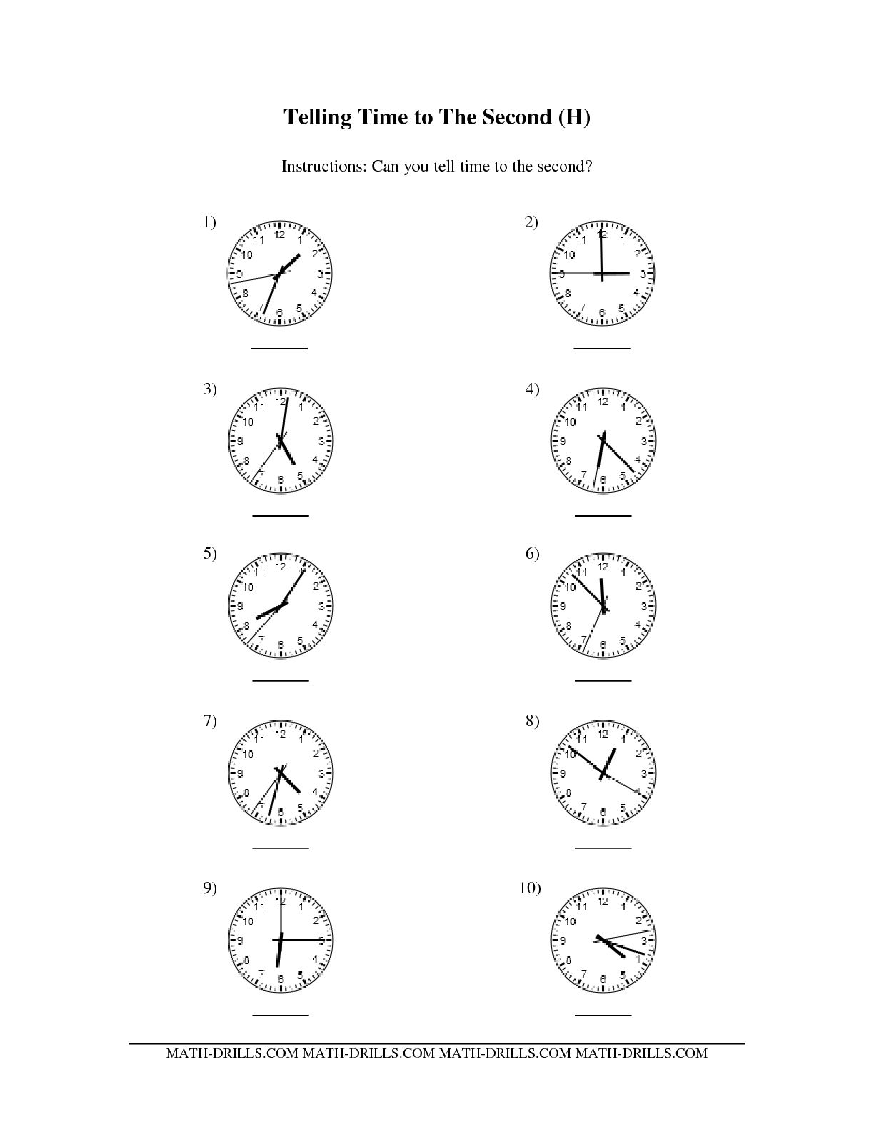 16 Best Images Ofog Time Worksheets