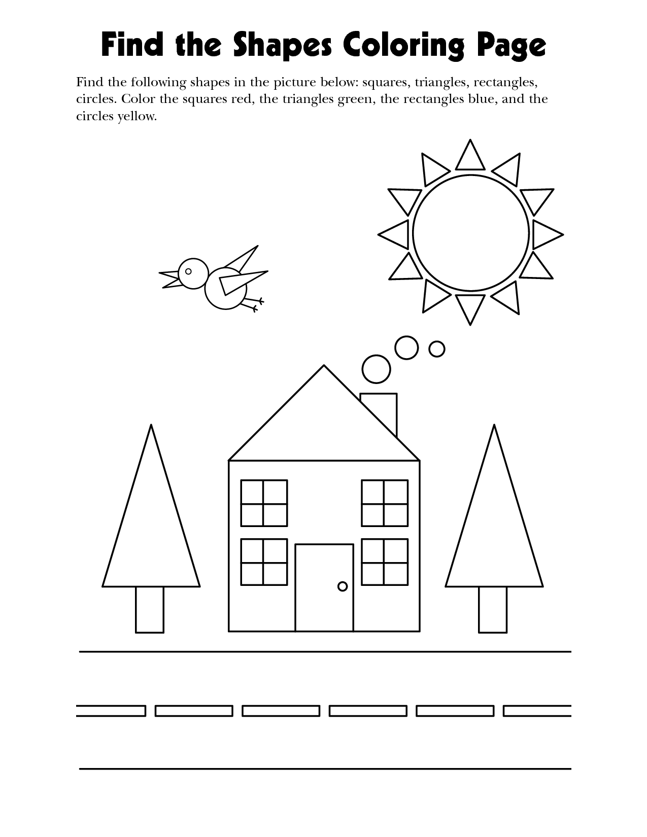 11 Best Images Of Find The Shapes Worksheet