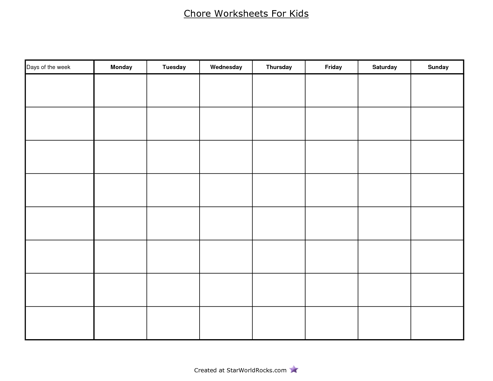 4 Square Worksheet Printable