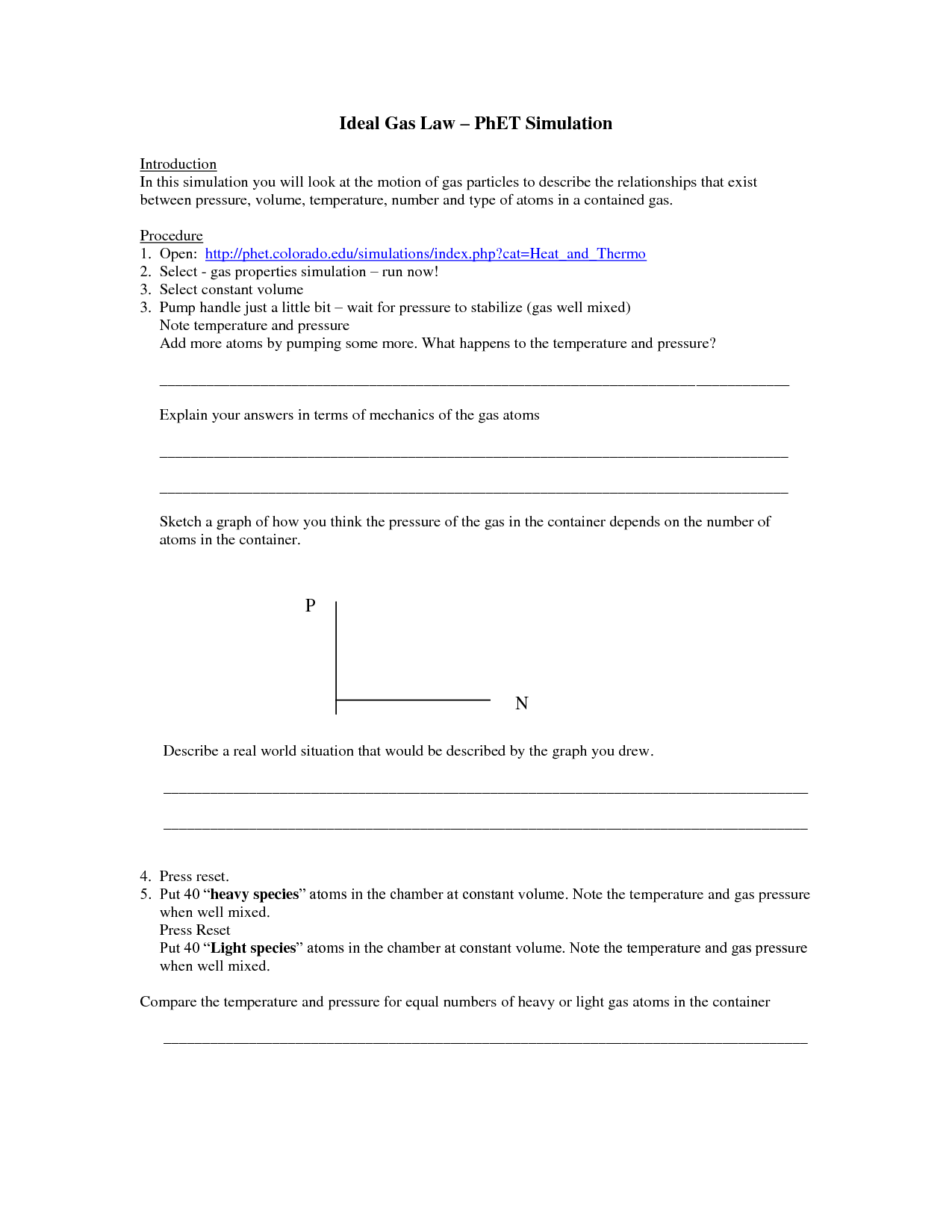 11 Best Images Of All Gas Laws Worksheet