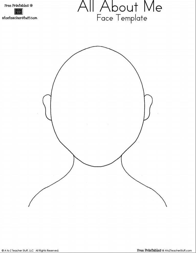 Human Face Template Printable