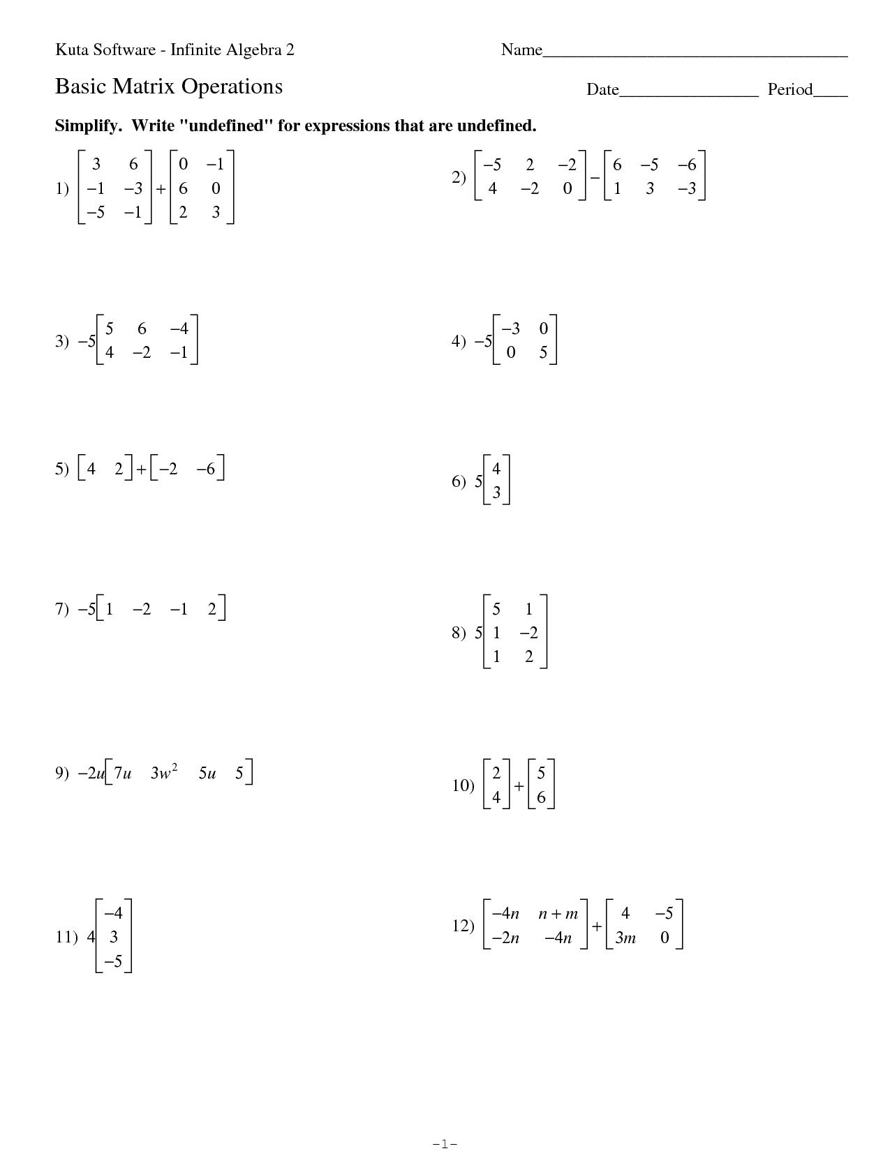 Statistics Worksheet Kuta