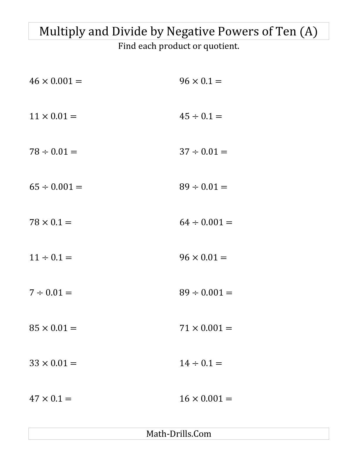 16 Best Images Of Add Homework Worksheet Integers Practice