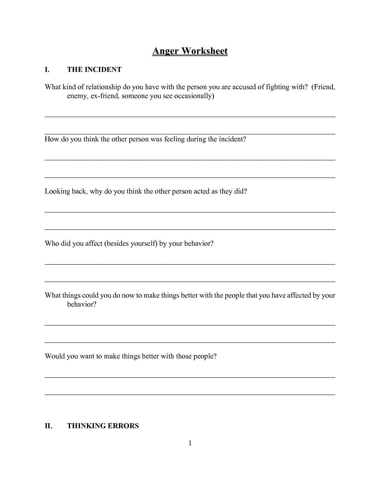 8 Best Images Of Self Esteem Activity For Teens Worksheets