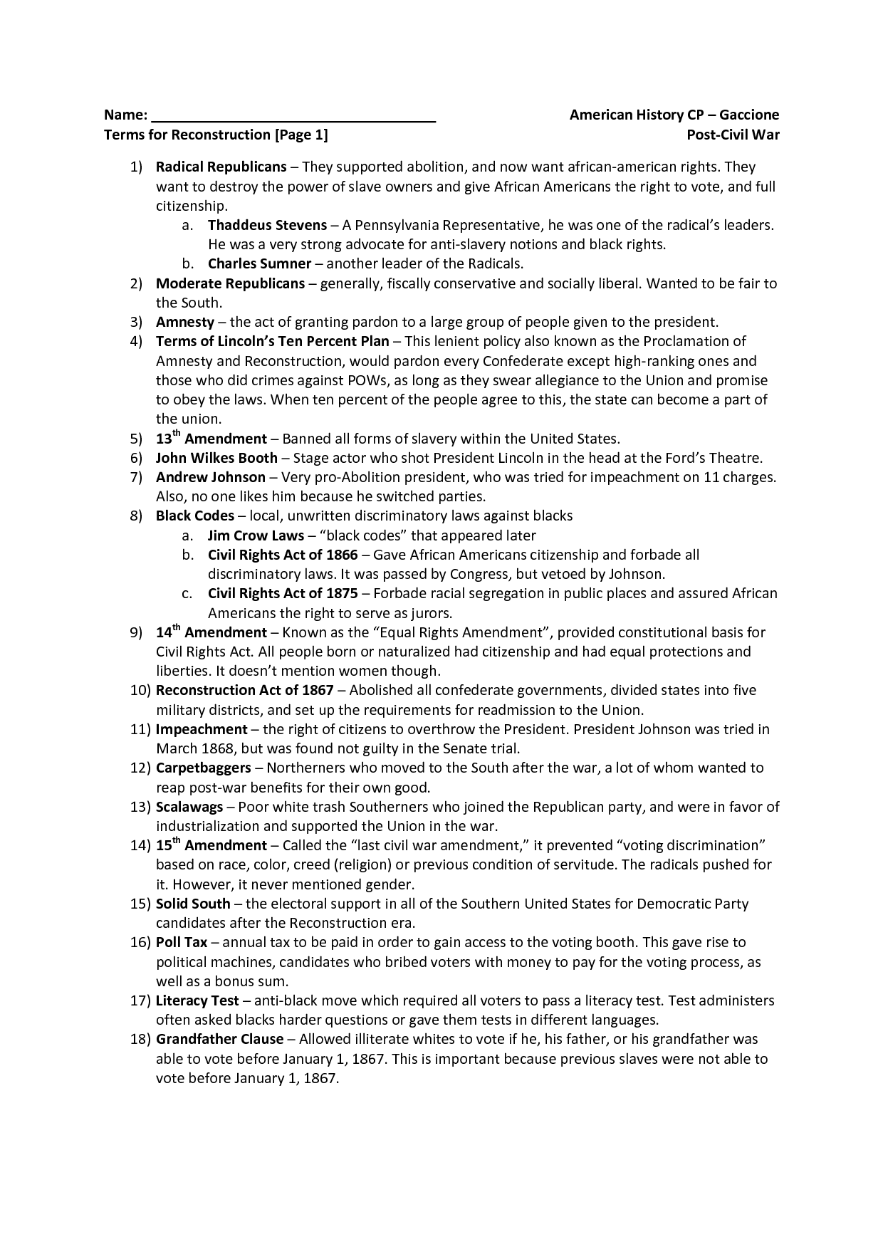 History Worksheet Category Page 3
