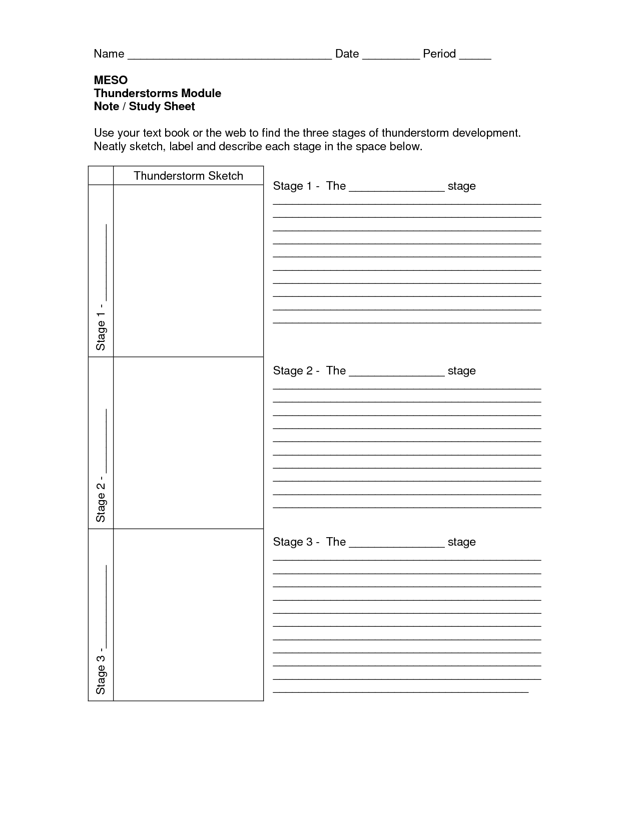 7 Best Images Of Printable Student Worksheets