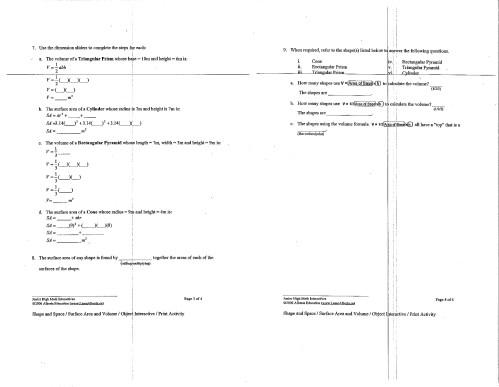 small resolution of Calculating Surface Area Worksheet   Printable Worksheets and Activities  for Teachers