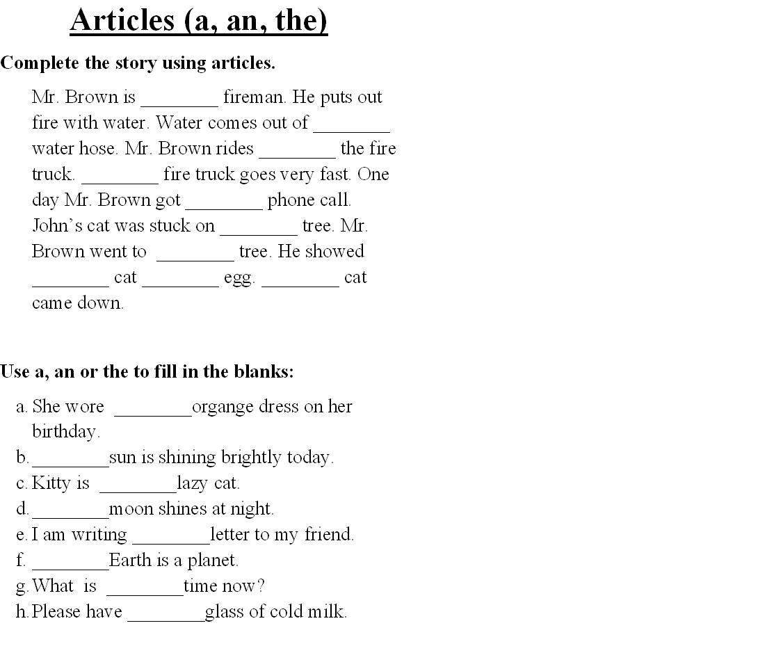 30 English Worksheet For Grade 2