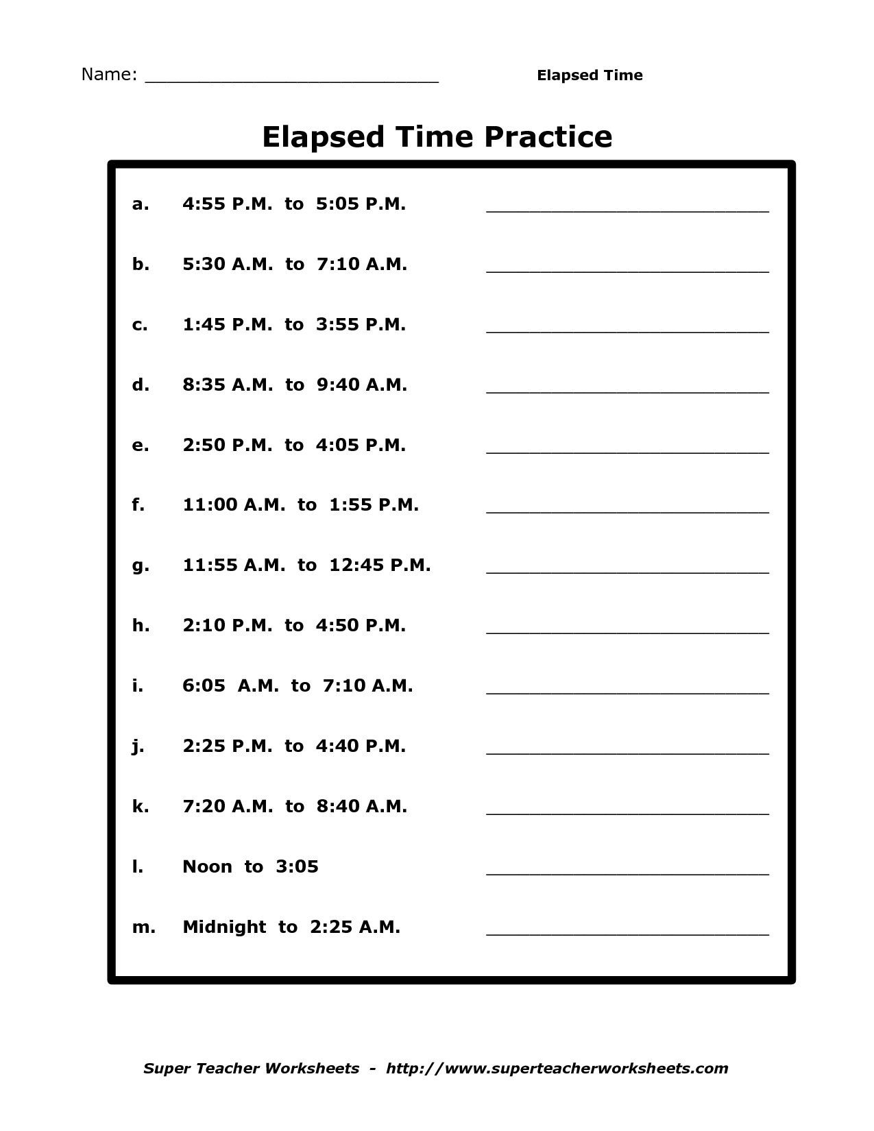 19 Best Images Of Elapsed Time Worksheets Second Grade