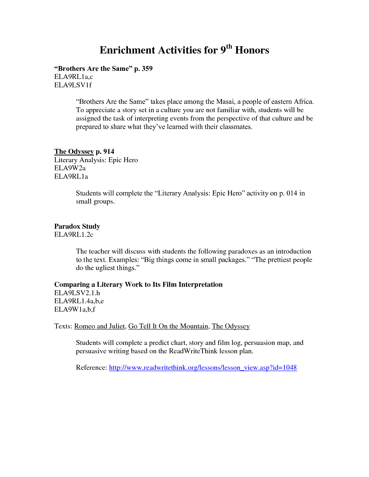 Worksheet For 5th Grade Language Arts